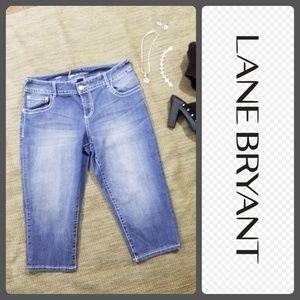 Lane Bryant Capri jeans sz 14